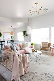 Gold Curtains Living Room Inspiration Bedrooms Pink Gold Gray Living Room With White Linen Sofa