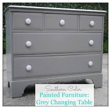 modern southern table southern color painted furniture grey changing table