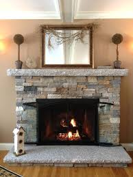 diy decorative fireplace screen faux ideas stacked stone christmas