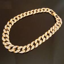 link choker necklace images Hip hop quavo full iced out 30 quot miami cuban link choker necklace jpeg
