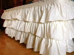 plastic thanksgiving tablecloths no sew ruffled tablecloth made from layers of plastic tablecloths