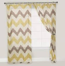 Gray Chevron Curtains Yellow Andy Curtains Elm West Grey Ikat Shower Curtain Free Image