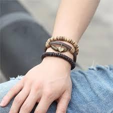 heart leather bracelet images Vintage unisex heart leather bracelets bangles apporus jpg