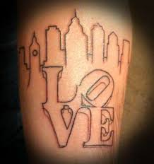 simple norse tattoo love the look of this philly skyline tattoo clean cut simple lines