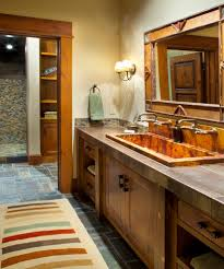 locati architects landscape rustic with stone wall curved truss locati architects bathroom rustic with bathroom sink trough sink
