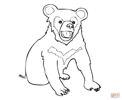 asia black bear cub coloring page free printable coloring pages