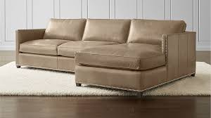 Crate And Barrel Sectional Sofa Dryden Leather 2 Piece Sectional With Nailheads Crate And Barrel