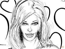 woman u0027s face coloring page free printable coloring pages