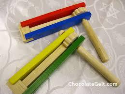 purim groggers wood grogger each