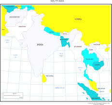 South Asia Blank Map by Blank Color Map Of South Asia Within South Asian Map Evenakliyat Biz