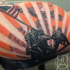 Arizona Flag Tattoo Bhalltattoo Iwo Jima Marine Corps America American Flag Ega Eagle