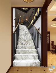 3d modern marble stairs corridor entrance wall mural decals art 3d modern marble stairs corridor entrance wall mural decals art print wallpaper 044