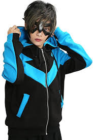 Halloween Costumes Nightwing Amazon Xcoser Nightwing Hoodie Jacket Sweatshirt Costume