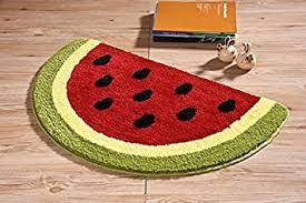 Water Absorbing Carpet by Amazon Com Luxbon Microfiber Non Slip Water Absorbing Watermelon