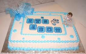 photo boy baby shower cakes image