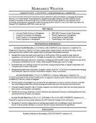 accounts payable resume exles accounts payable resume sle