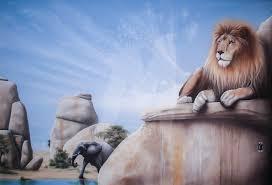 safari playroom wall mural curtis stokes fine art safari playroom lion rock 3