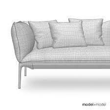 Yale Sofa Bed Mdf Italia Yale Sofa And Armchair 3d Cgtrader