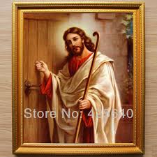 jesus knocking at the door oil painting on canvas hight quality