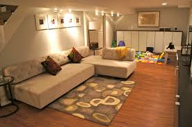basement storage shelves fascinating beige basement room idea feat comfy white sleeper sofa