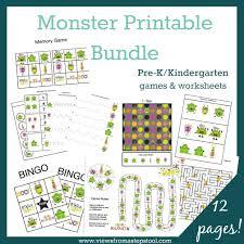 free printable monster games bingo i spy memory