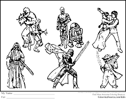 star wars coloring pages figures ginormasource kids