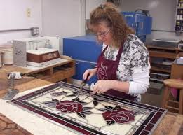 stained glass work table design roses glassworks art glass