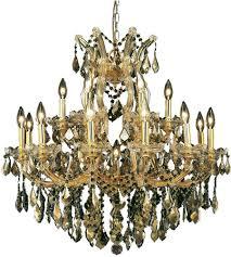 Maria Theresa Chandelier Elegant Lighting 2800d30g Gt Rc Maria Theresa 19 Light 30 Inch