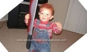 Chucky Costume Coolest Homemade Baby Chucky And Bride Of Chucky Costume Chucky