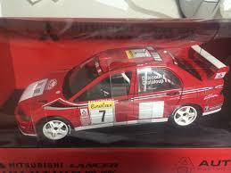mitsubishi evo rally car autoart 1 18 mitsubishi lancer evo vii wrc 2002 7 blank megarare
