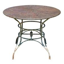 Metal Garden Table And Chairs Uk Umbrella Round Metal Garden Table At 1stdibs