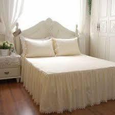 Bed Frame Skirt Crocheted Bed Skirts Foter