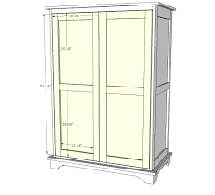 Free And Easy Diy Furniture Plans by Ana White Build A Toy Or Tv Armoire Free And Easy Diy Project