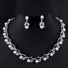 silver pearl necklace set images As01 pearl jewelry set pearl earring and necklace set shopping jpg