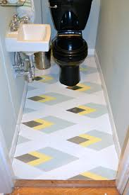 painted linoleum bathroom floor just something i whipped up