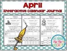 april calendar weather and daily math review calendar