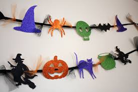 Paper Craft Decoration Ideas Simple Diy Halloween Garland Glittered Design Witch Couldron