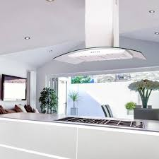 kitchen island extractor hood 70cm island cooker hood curved glass white picha remodel