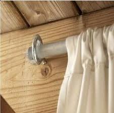 how to make an outdoor curtain rod for very little money outdoor