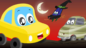 halloween monsters car rhymes and songs for kids youtube