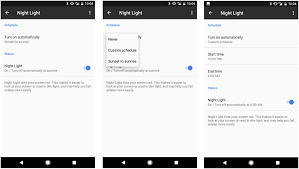 how to use the blue light killing night light on the google pixel