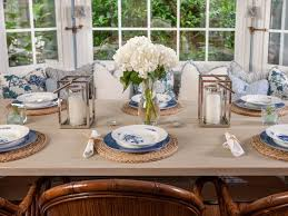 Beachy Dining Room by Dining Room Table Settings For Well Dining Room Table Settings