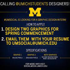 Seeking Graphics Umsocial Is Seeking A Graphic Design Intern U M Social Media