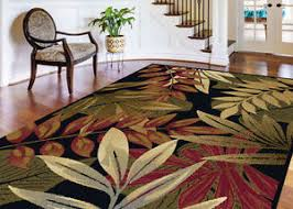 Area Rugs Tropical 5x7 Tropical Palm Floral Coastal Black Area Rug Free Shipping Ebay