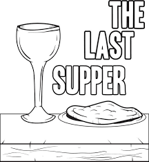 Free Printable The Last Supper Coloring Page For Kids Last Supper Coloring Page