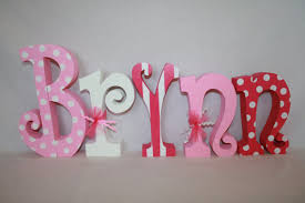 wood letters baby name letters nursery decor for 5