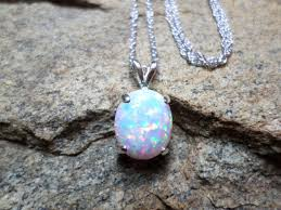 opal jewelry necklace images White opal necklace large opal necklace fine jewelry sterling jpg