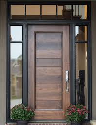 modern front door designs exle of custom wood door with glass surround interior barn