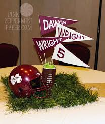 football centerpieces football banquet centerpiece cheer themed tables gave guests the