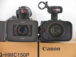 size comparison for the hmc150 and canon xh a1 at dvinfo net